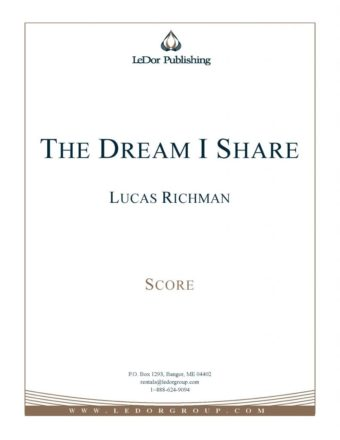 the dream I share score cover