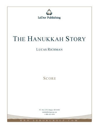 the hanukkah story score cover