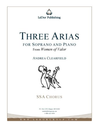 Three Arias for soprano and piano ssa chorus cover