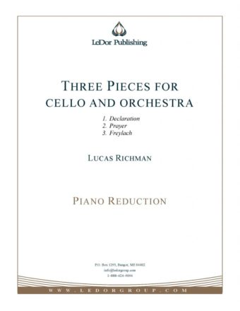 three pieces for cello and orchestra piano reduction cover