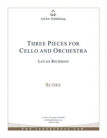 three pieces for cello and orchestra score cover