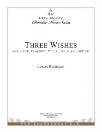 three wishes for flute, clarinet, viola, cello and guitar cover