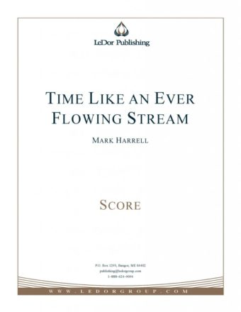 time like an ever flowing stream score cover