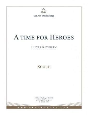 a time for heroes score cover