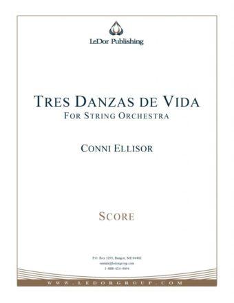 tres danzas de vida for string orchestra score cover