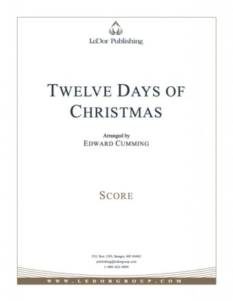 twelve days of christmas score cover
