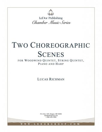 two choreographic scenes for woodwind quintet, string quintet, piano and harp cover