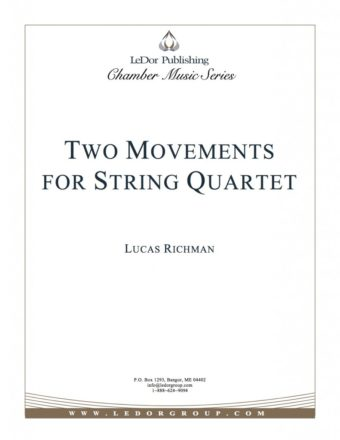 two movements for string quartet cover