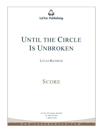 until the circle is unbroken score cover