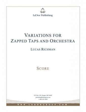variations for zapped taps and orchestra score cover