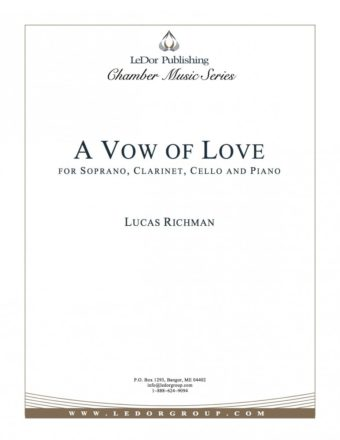 a vow of love for soprano, clarinet, cello and piano cover