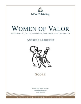women of valor for soprano, mezzo-soprano, narrator and orchestra score cover