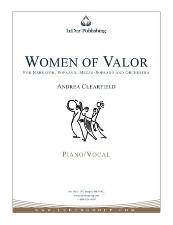 women of valor for narrator, soprano, mezzo-soprano and orchestra piano/vocal cover