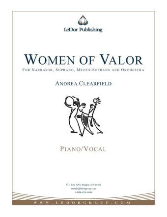 women of valor for narrator, soprano, mezzo-soprano and orchestra piano/vocal cover