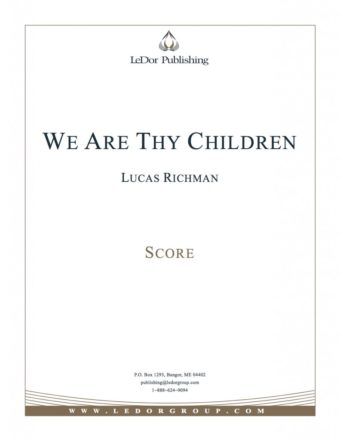 we are thy children score cover