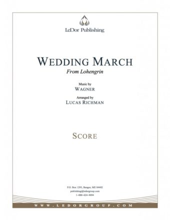 wedding march from lohengrin score cover