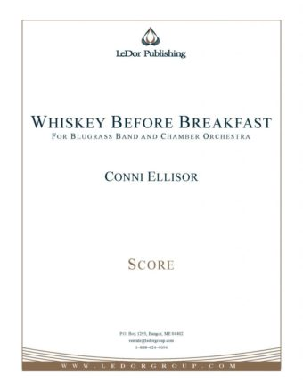 whiskey before breakfast for blugrass band and chamber orchestra score cover