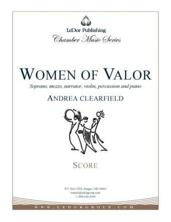 women of valor soprano, mezzo, narrator, violin, percussion and piano score cover