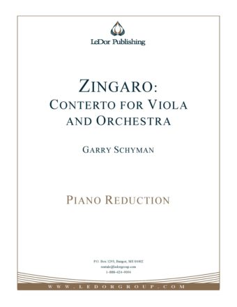 zingaro: conterto for viola and orchestra piano reduction cover