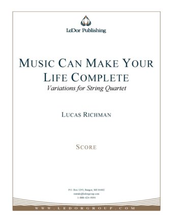 music can make your life complete variations for string quartet score cover
