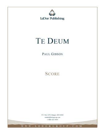 Te Deum Score Cover
