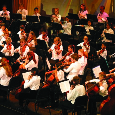 Photo of youth orchestra